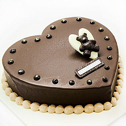 Teddy Heart Cake
