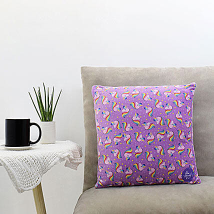 Unicorn Printed Square Pillow