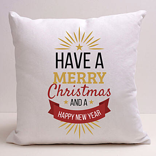 Xmas And New Year Greetings Cushion