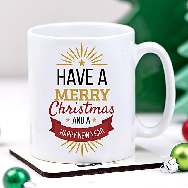 Xmas And New Year Greetings Mug