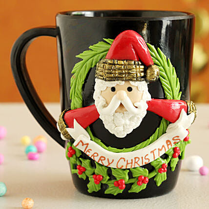 Merry Christmas Santa Mug:Christmas Gift Delivery in Poland