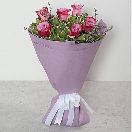 Bouquet Of Purple Roses:Birthday Flower Delivery in Qatar