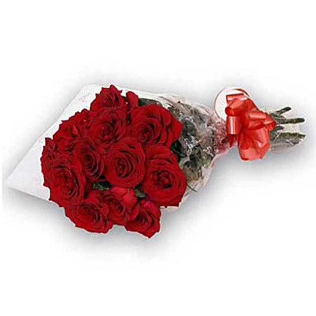 Bunch of 12 roses QAT