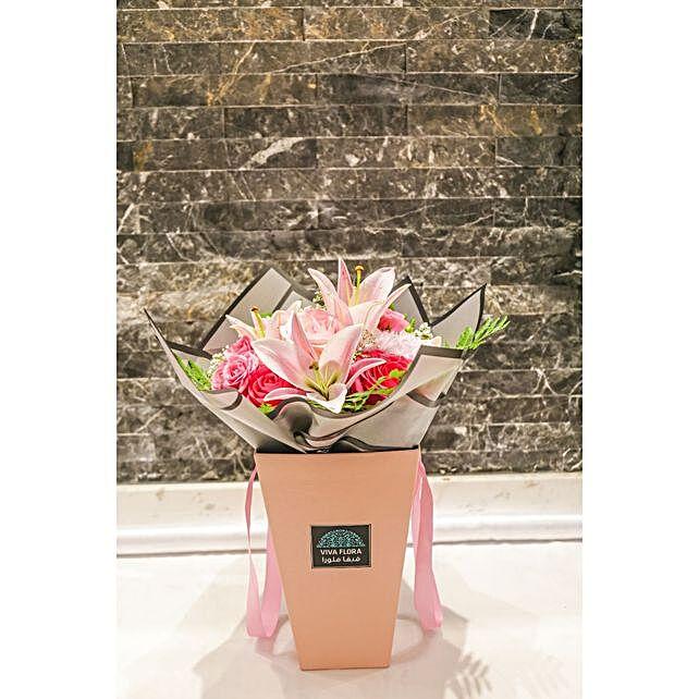 Delicate Pink Flowers Arrangement