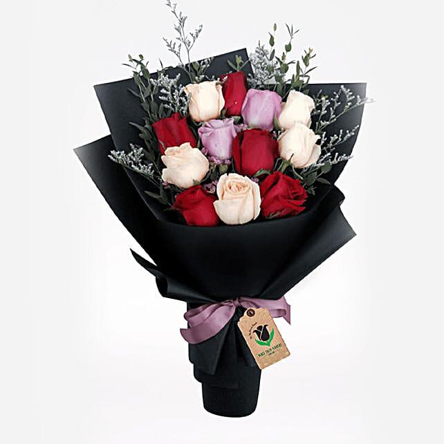 Elegant Roses Bunch:Send Roses to Qatar
