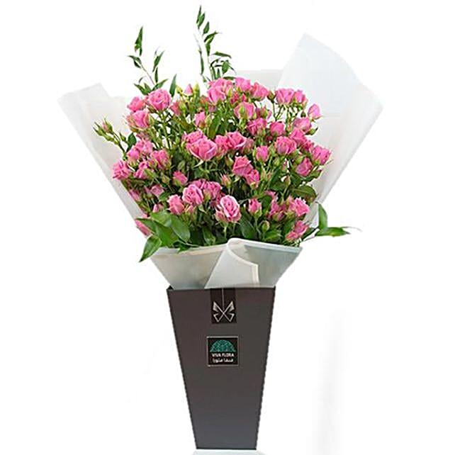 Exotic Pink Rose Arrangement