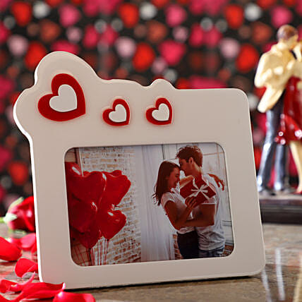 Floating Hearts Personalised Photo Frame