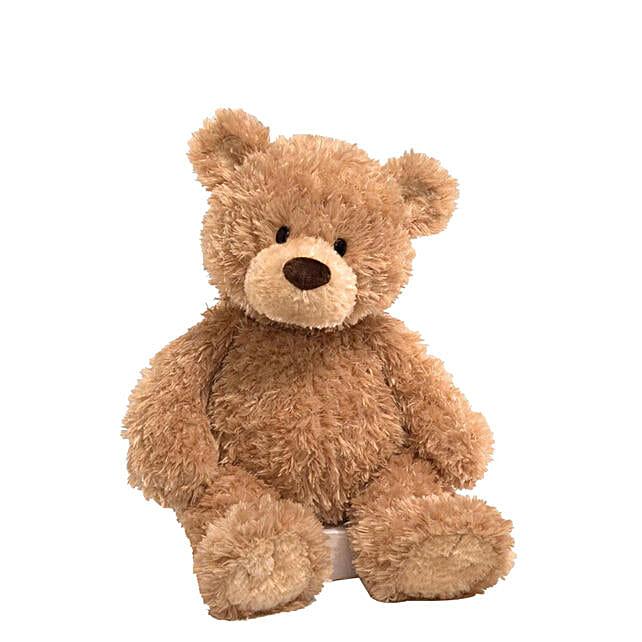 Fluffy Brown Medium Teddy Bear:Send Soft Toy to Qatar