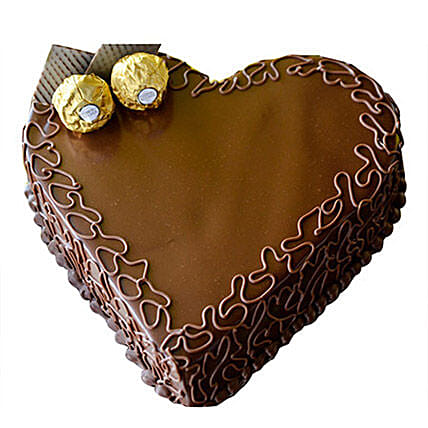 Heart Choco Cake:Anniversary Cake Delivery in Qatar