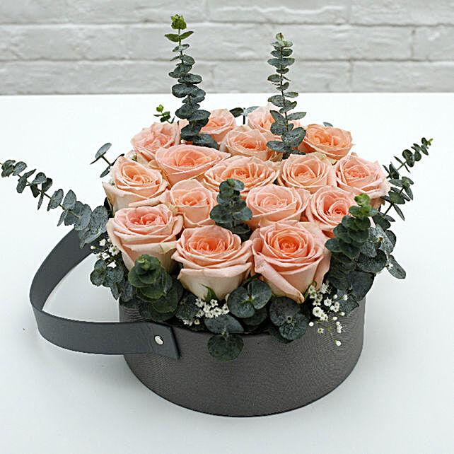 Light Pink Roses Basket