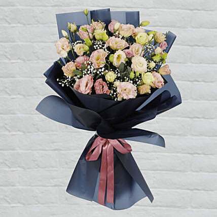 Lisianthus Bouquet:Thank You Gift Delivery in Qatar