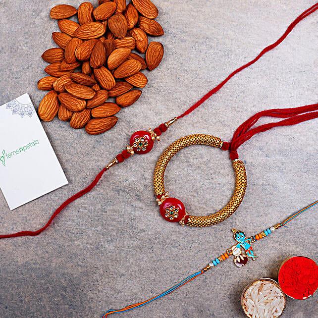 Lumba And Kids Rakhi With Almonds