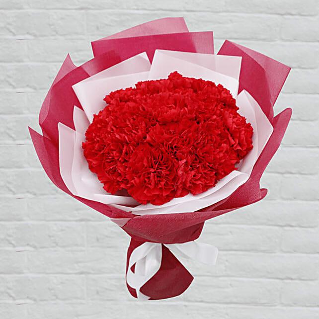 red carnation in attractive bouquet surprise:Send Flower Bouquets to Qatar