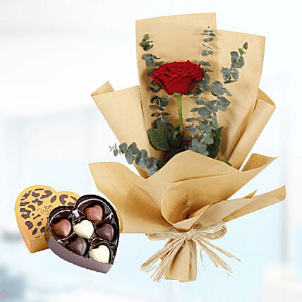 roses paper wrap with godiva chocolate surprise online