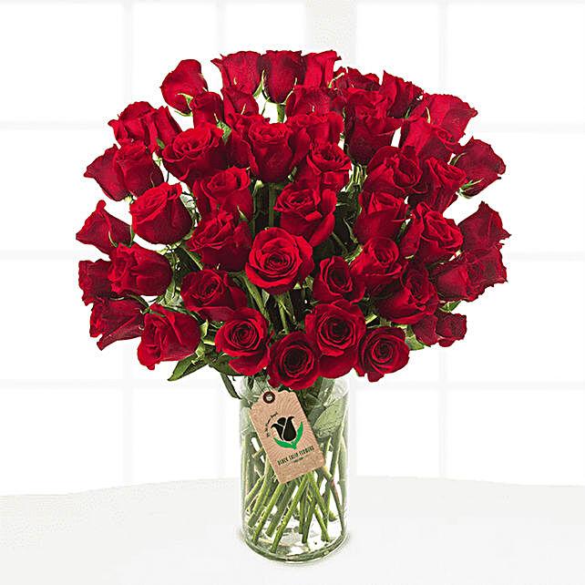 royal red floral vase online