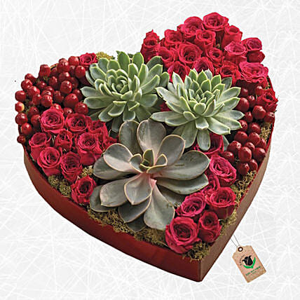 Special Heart Shaped Arrangement:Plants  in Qatar