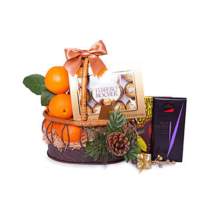 Basket Of Indulgence:Fathers Day Presents to Qatar