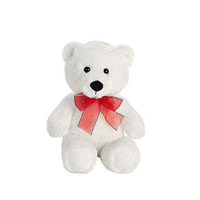Adorable White Small Teddy Bear:Send Birthday Gifts to Qatar