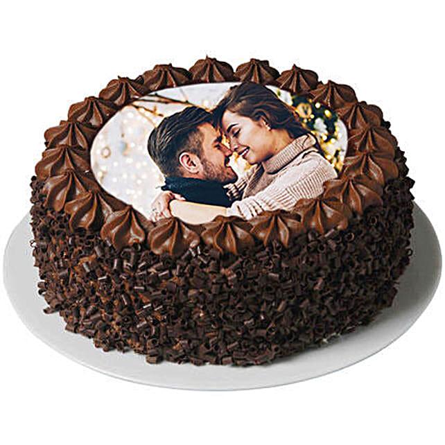 Flavorsome Chocolate Photo Cake
