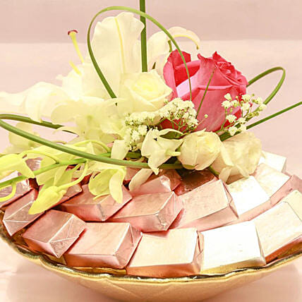 Sweet Pink Chocolates And Flowers