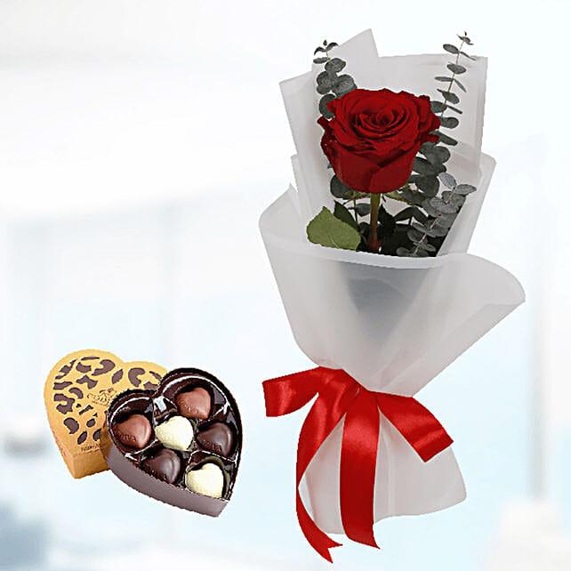 lovely rose with godiva chocolates online