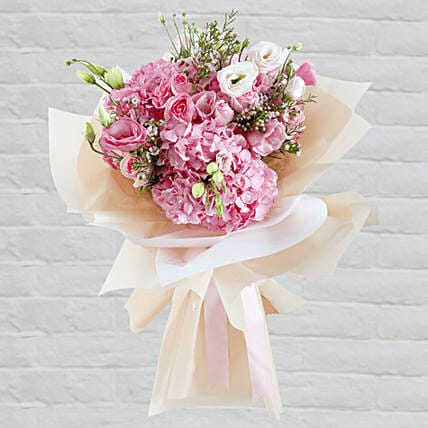 delicate flower bouquet for anniversary