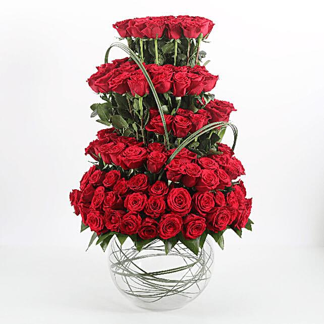 layer flower with bowl arrangement online