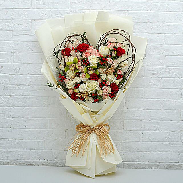 Heart Shaped Flower Bouquet