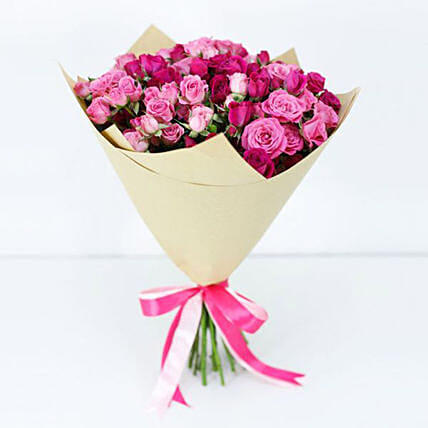 pink spray roses bouquet online