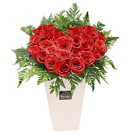 Heart And Soul Red Roses:Valentine's Day Gift Delivery in Qatar