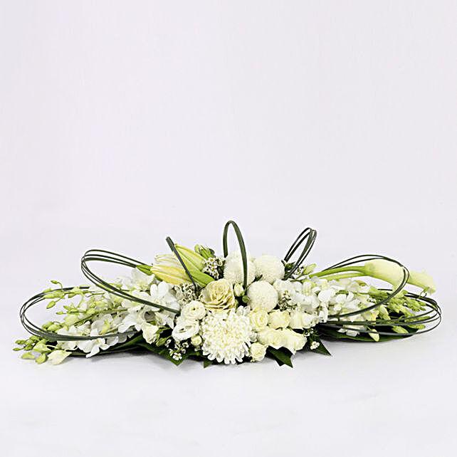 floral theme arrangement online:Send Orchid Flowers to Qatar
