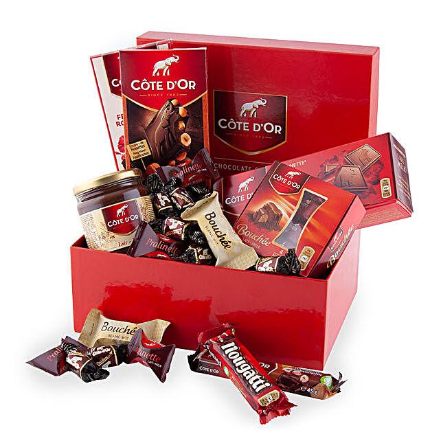 Cote Dor Chocolate Lover Box:Gift Delivery in Romania