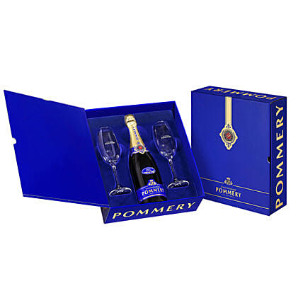 Pommery Champagne Brut Royal Coffret Hamper:Send Gifts to Romania