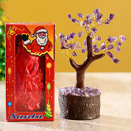 Amethyst Wish Tree & Choco Swiss Santa