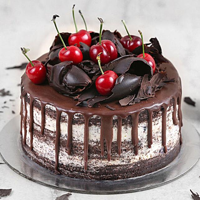 Delicate Black Forest Cake Half Kg