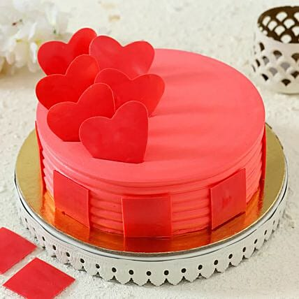 Hearty Strawberry Cake