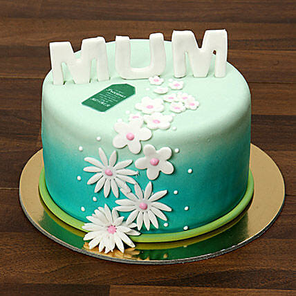 Mothers Day Fondant Cake 1 Kg:Mothers Day Cakes to Saudi Arabia