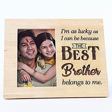 Personalised Wooden Frame My Best Brother