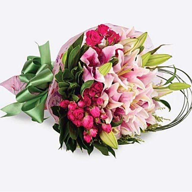 Pink Flowers Bouquet