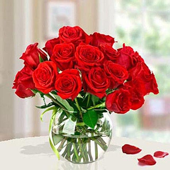 15 Red Roses Arrangement