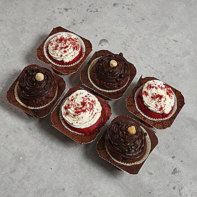 6 Designer Cupcakes