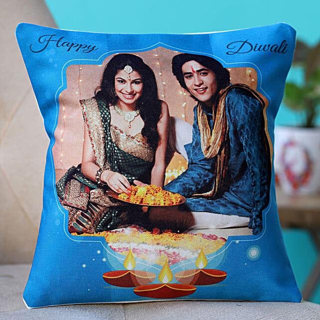 personalised diwali cushion online