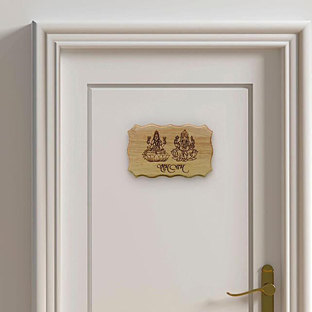 shubh laabh engrave wooden plaque online