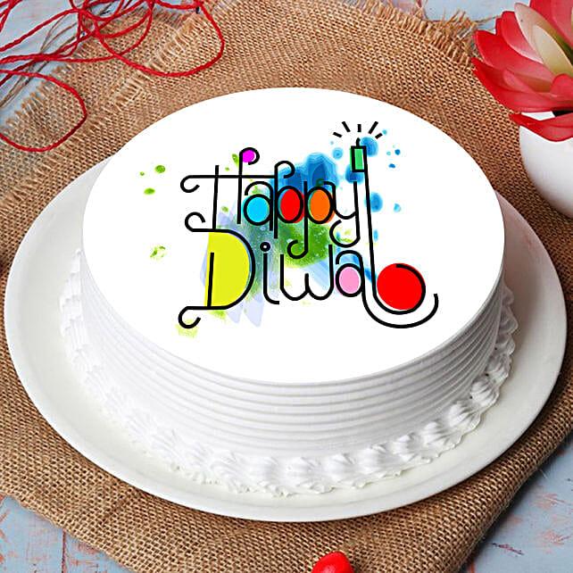 Happy Diwali Print Chocolate cake