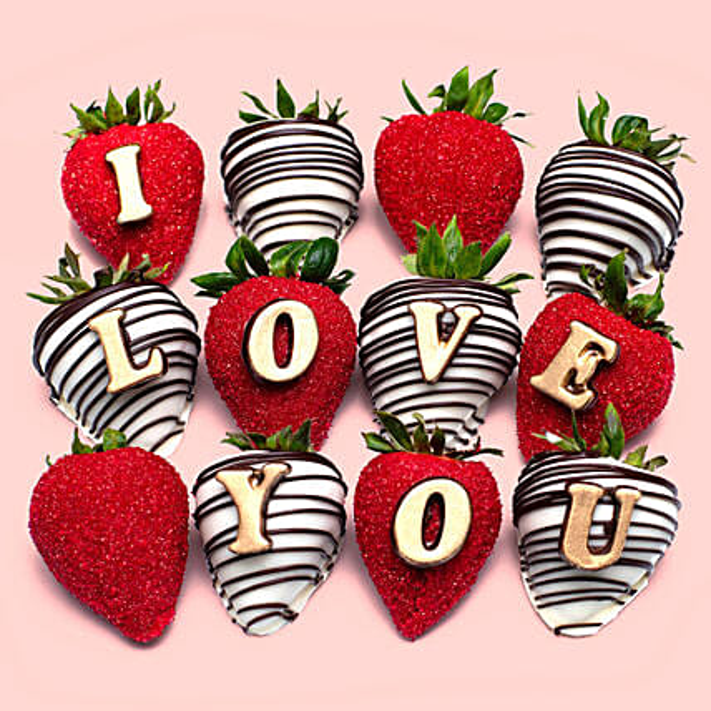 I Love You Chocolate Strawberries