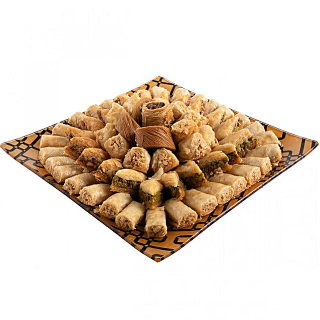 Assorted Baklawa Delight:Send Sweets to Saudi Arabia