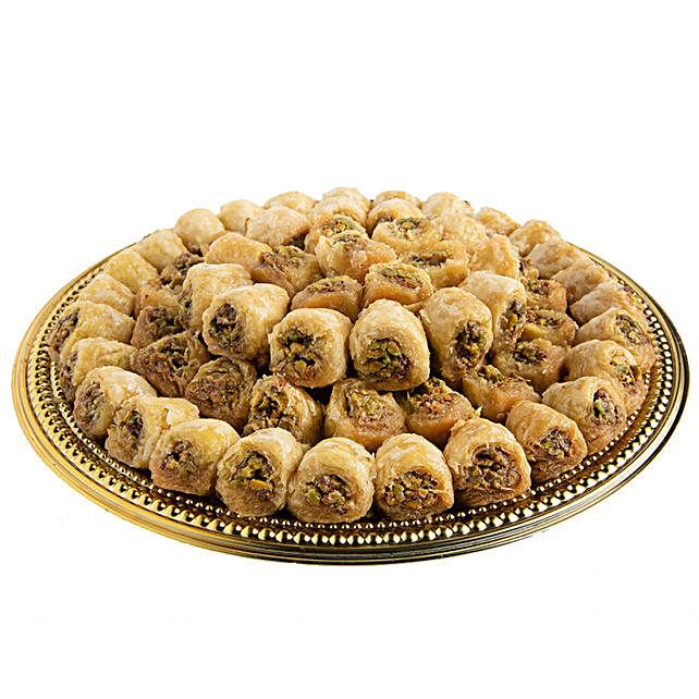 Assorted Pistachio Kol w Oshkr Delight:Send Sweets to Saudi Arabia