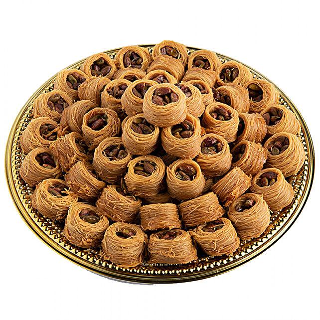 Assorted Pistachio Nightingale Nest Delight:Send Sweets to Saudi Arabia