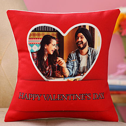 personalised valentine day cushion online