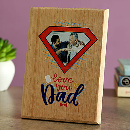 Love You Dad Personalised Wooden Plaque:Fathers Day Gifts to Saudi Arabia